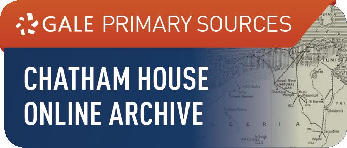 Chatham House Online I, 1920-1979