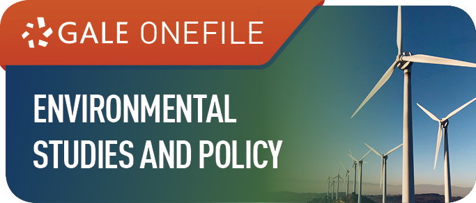 Environmental Studies and Policy